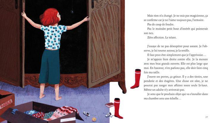 """Claire de Gastold illustration for """"L'armoire""""."""