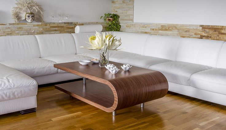 Konferenční stolek, coffie table Prague design wood