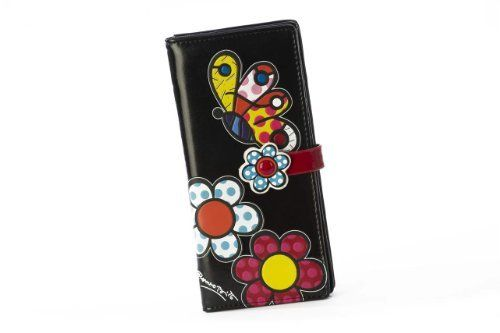 Romero Britto Large Black Wallets - Butterfly by Romero Britto. $19.94