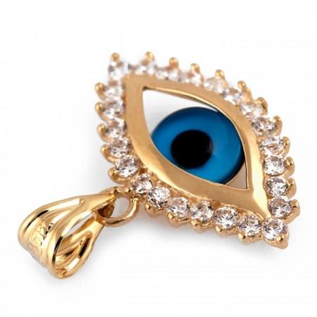 107 best evil eye jewelry images on pinterest evil eye jewelry 14k gold evil eye pendant with pave czs aloadofball Images