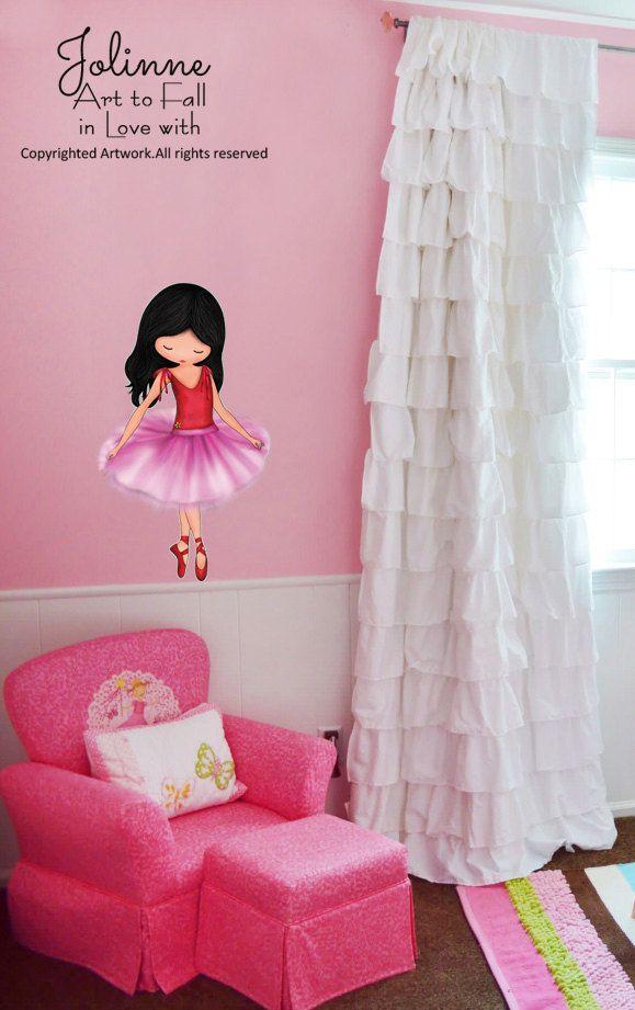 Art Decor ballerine filles chambre mur autocollant par jolinne