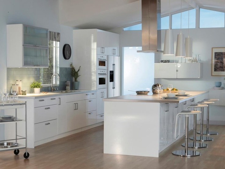 Cucina ikea con isola kitchen pinterest cucina and ikea - Isole per cucine prezzi ...