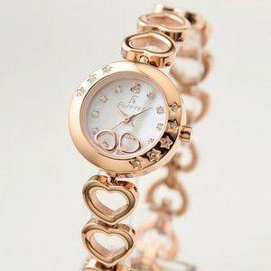 Forever(フォーエバー)  腕時計 1Pダイヤ FL-1207-1PG ホワイトシェル×ピンクゴールド - 拡大画像  #レディース時計 #レディース時計プレゼント #レディース時計人気20代 #レディース財布 #レディース時計ブランド #レディース時計人気