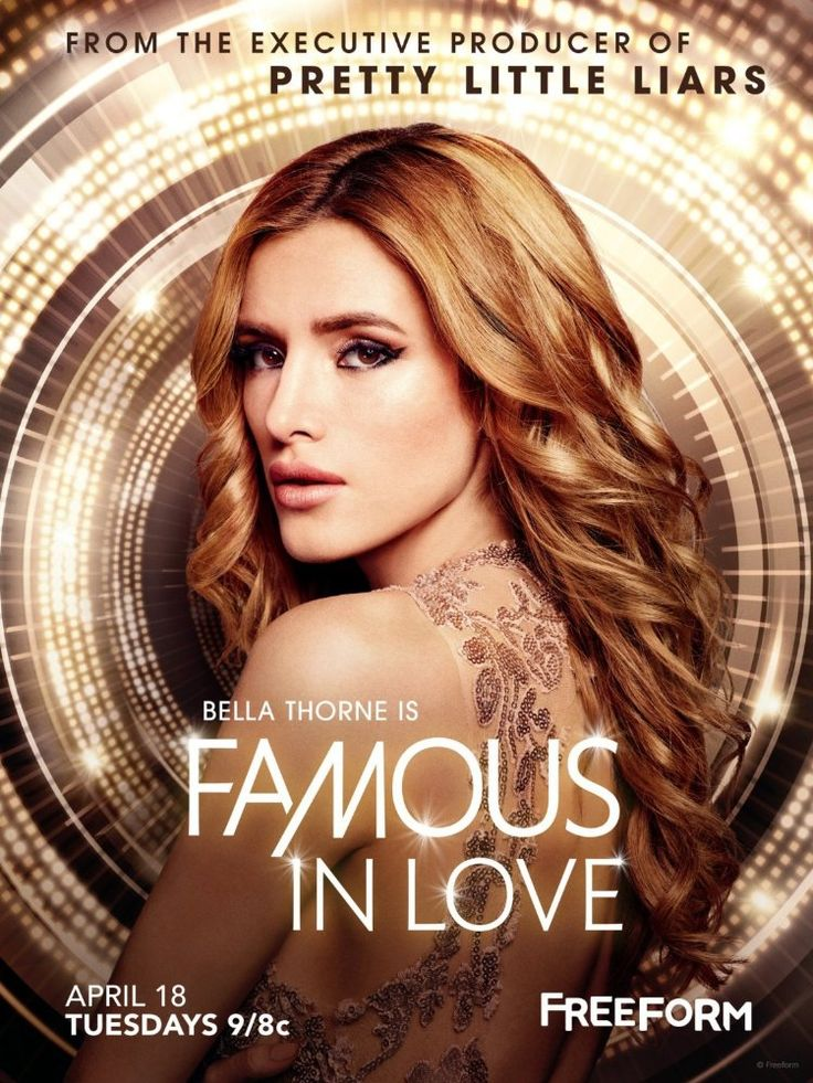 Famous In Love (April 18, 2017) a drama based on the novel by Rebecca Serle. Paige, a college student auditions for a movie landing a role in a big budget blockbuster. She tries to balance college, her co-star Rainer, her career, and find the mystery about a missing actor Stars: Bella Thorne, Charlie DePew, George Flores, Carter Jenkins, Niki Ross, Keith Powers, Vanessa Williams, Tanjareen Thomas, Pepi Sonuga, Perry Reeves, Jason Antoon, Tom Madden.