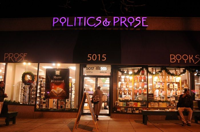 Evening hours at Politics & Prose, the landmark bookstore at 5015 Connecticut Avenue in the Chevy Chase section of Washington, D.C. The store, famous for itstalks by prominent authors, is a cultural hub for all of Chevy Chase. Check the web site for a a full schedule of author appearances.