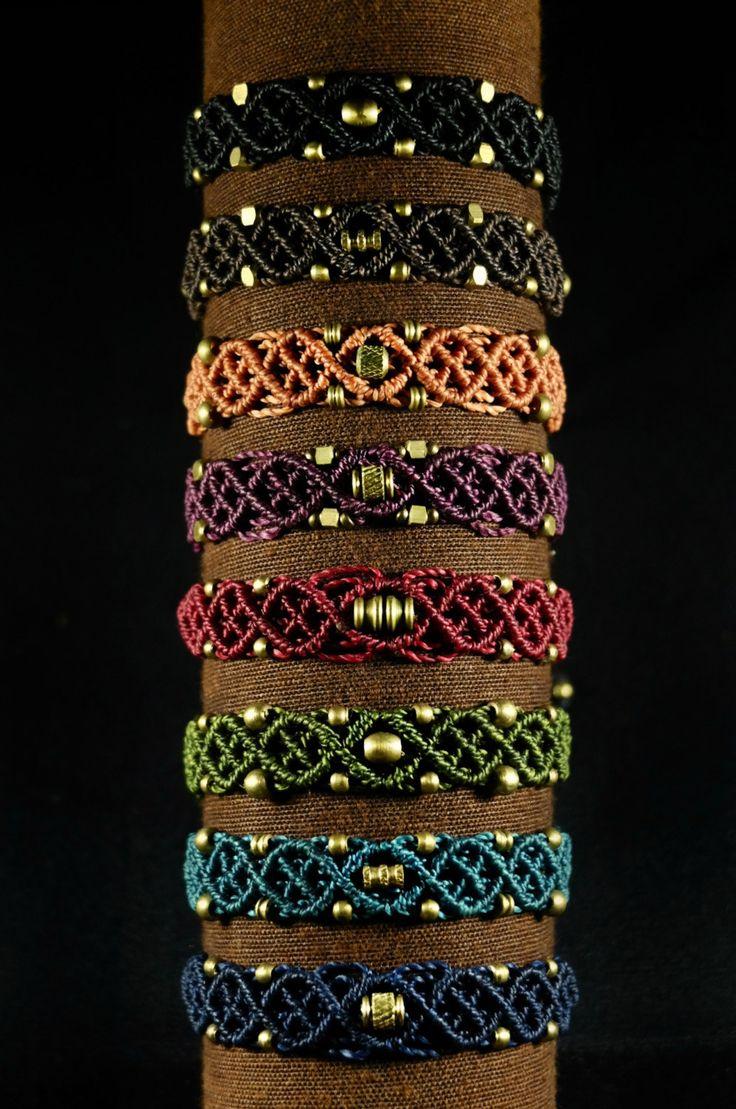 WHEAT. Macrame bracelet with brass. by luxurymacrame on Etsy More