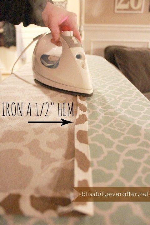DIY, no sew, Roman Shade tutorial - Ask Anna