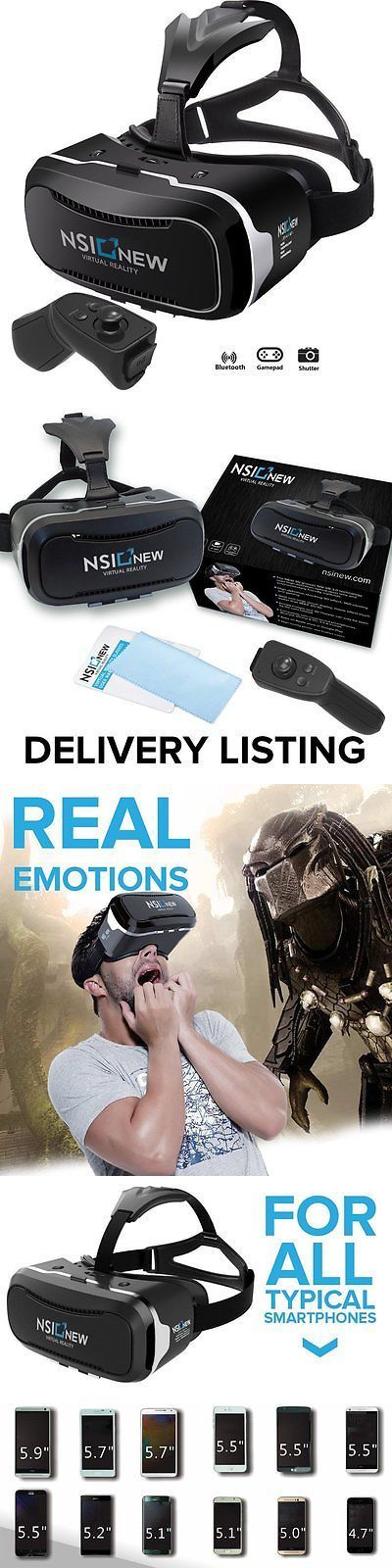 3D TV Glasses and Accessories: Nsinew 3D Virtual Reality Headset Is Hd Vr Goggles Or 3D Vr Glasses For 100%... -> BUY IT NOW ONLY: $50.85 on eBay!