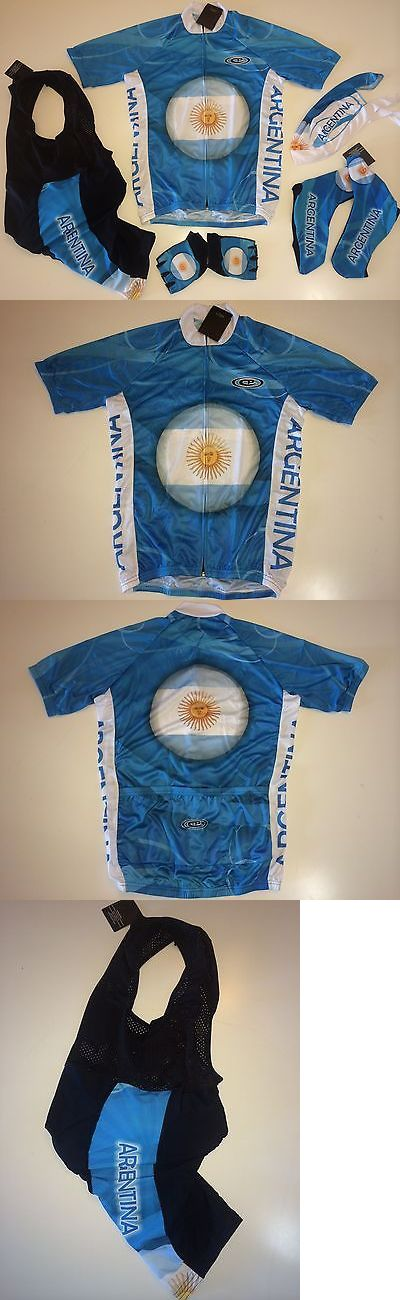 Other Cycling Clothing 177857: New Size M - Argentina Team Cycling Flag Road Bike Set Jersey Bib Shorts Gloves BUY IT NOW ONLY: $99.95