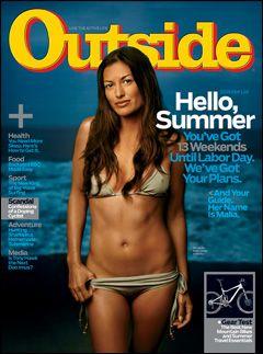 Outside Magazine, June 2008, featuring surfer Malia Jones