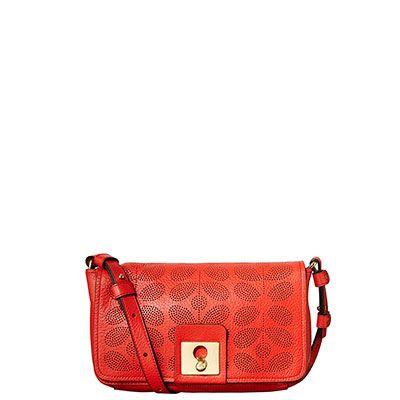 Orla Kiely | UK | Bags | Mainline | Sixties Stem Leather Robin Bag (14SBSSP062) | Firecracker