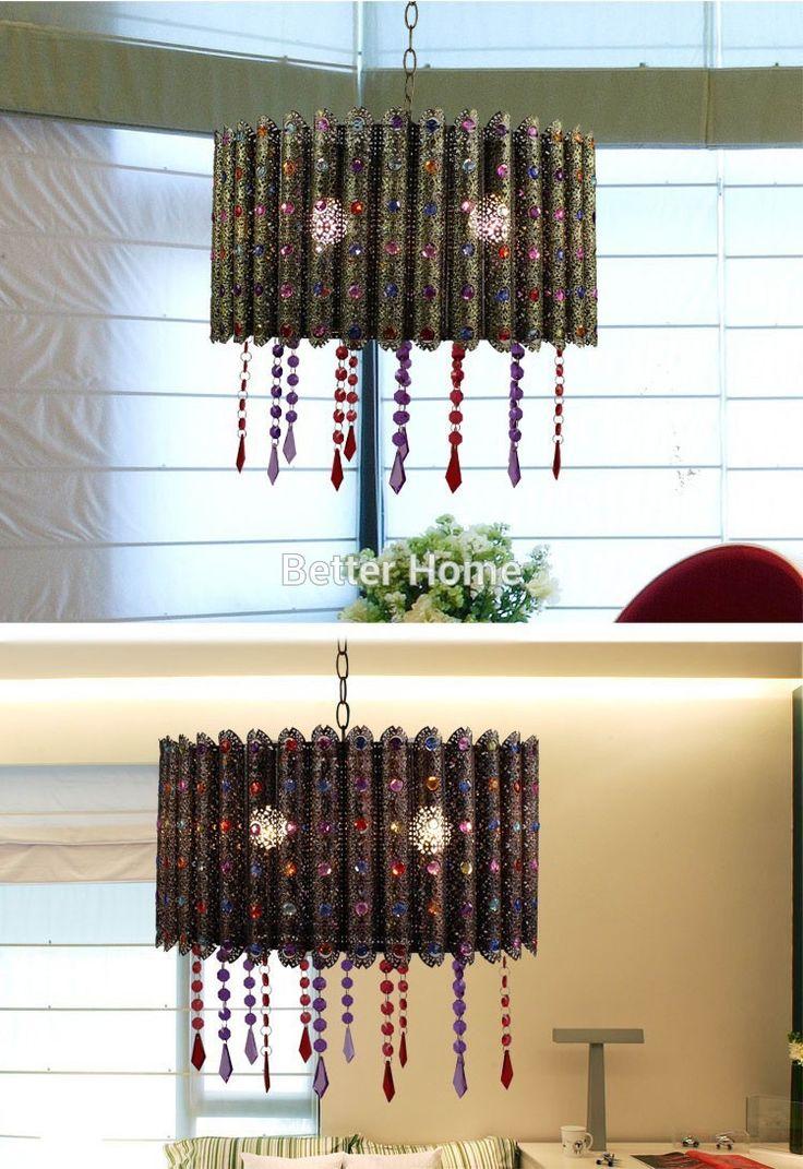 Марокканский Подвесной Светильник Бар Отеля Творческой Марокканской Лампы Экзотические Блеск Подвесной Светильник Современный Ретро Лампы Освещения купить на AliExpress