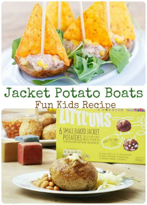Fun jacket potato boat quick recipe for kids - great for after school
