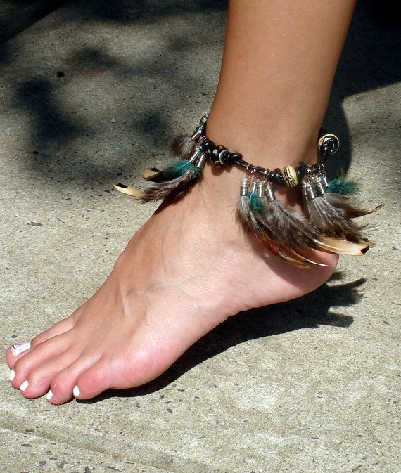 Into the woods feather ankle bracelet