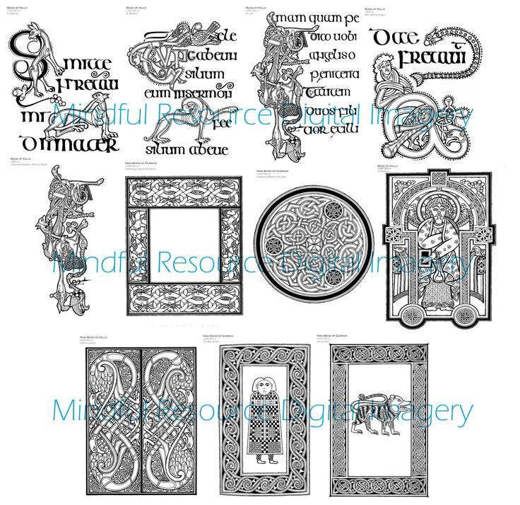 book of kells coloring pages - photo#20