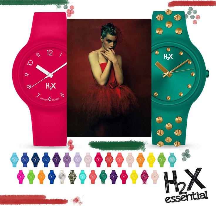 Rosso? O Verde? O tutti e due? E se non basta...  H2X ONE: orologi in silicone multicolor made in Italy, in oltre 50 colori.  Con cover e cinturino intercambiabile per interpretare ogni voglia di sfumature nuove :)