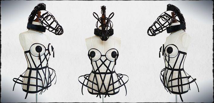 Crinoline Cage Dress & Chess Horse Art Installation By Despotnia