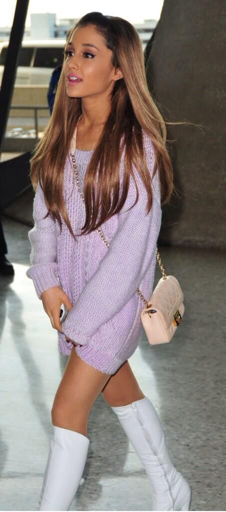 New Ariana Grande Fashion- love her boots!
