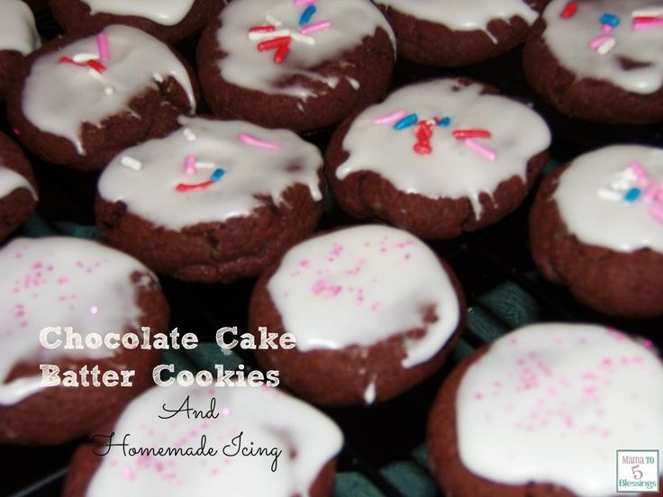 Cake Recipe With Icing In The Batter: Check Out Chocolate Cake Batter Cookies With Homemade