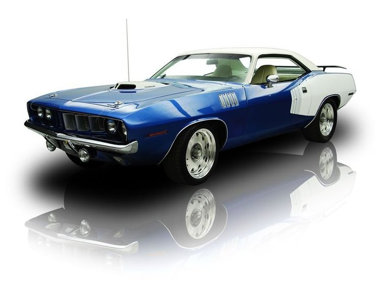 Bluefire Metallic 1971 Plymouth 'Cuda | RK Motors Charlotte | Collector and Classic Cars
