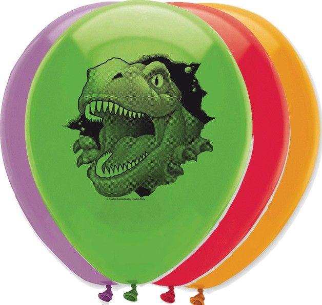 6 palloncini con stampa dinosauro su VegaooParty, negozio di articoli per feste. Scopri il maggior catalogo di addobbi e decorazioni per feste del web,  sempre al miglior prezzo!