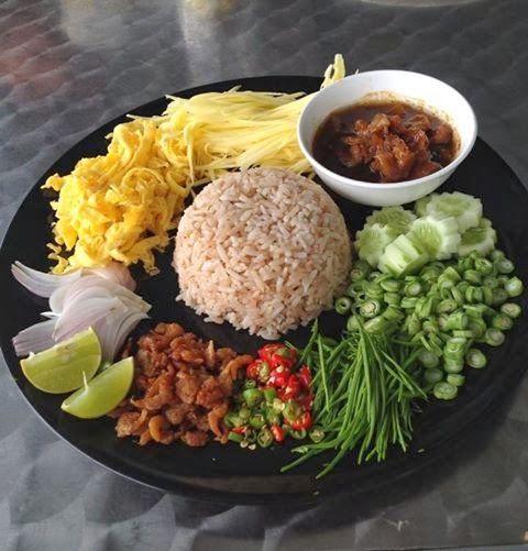 ข้าวผัดน้ำพริกลงเรือกับ ข้าวคลุกกะปิ | teachcookamea