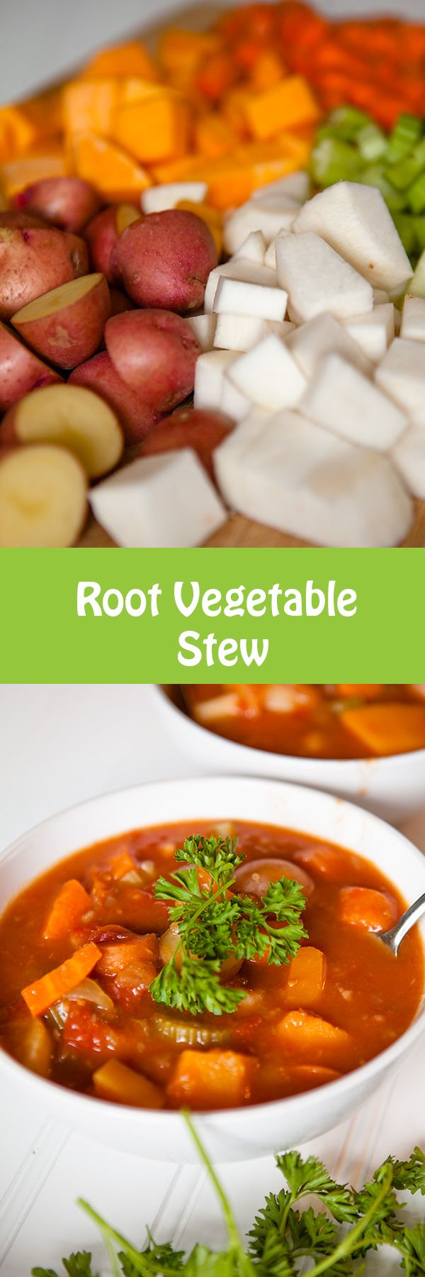Vegan Root Vegetable Stew                                                       …
