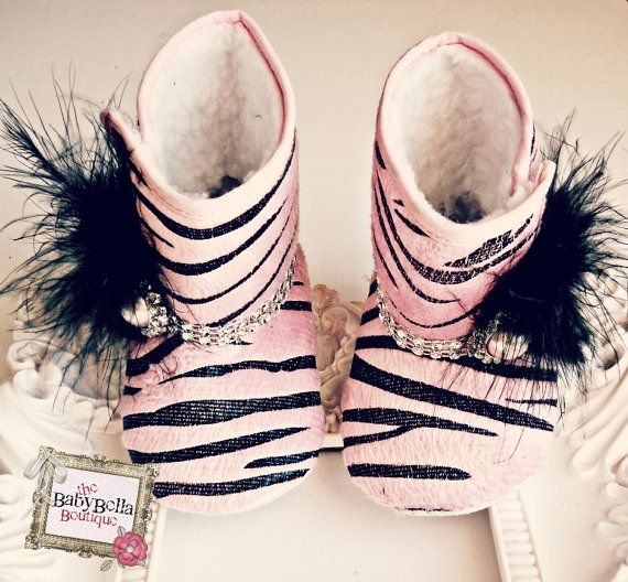 Glam Diva Zebra baby crib boot  Baby Girl by TheBabyBellaBoutique, $18.50