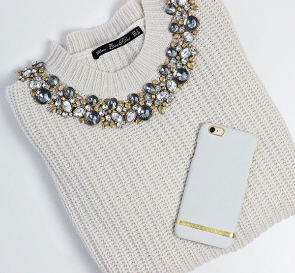 Crystal With Rhinestone Statement Necklace