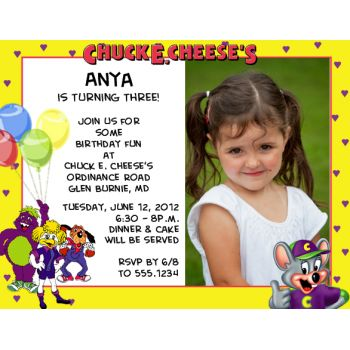 The 161 best chuck e cheese party images on pinterest cheese party chuck e cheese photo magnet birthday party invitations filmwisefo