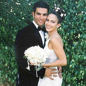 Jennifer Lopez & Ojani Noa at their 1997 wedding.