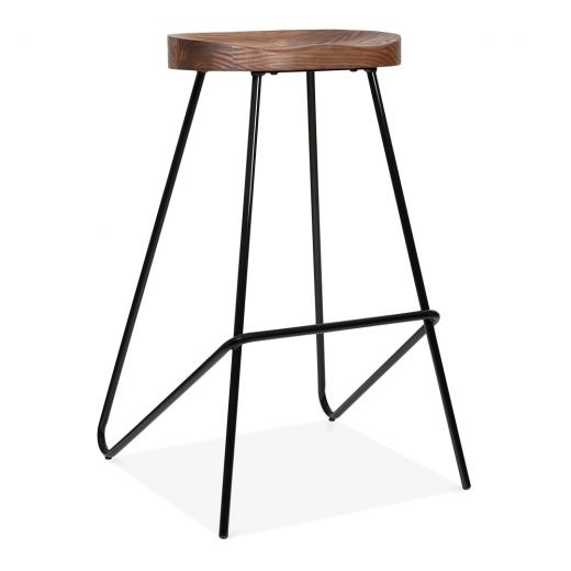 Cult Living Norse Black Stool 75cm | Cult Furniture UK