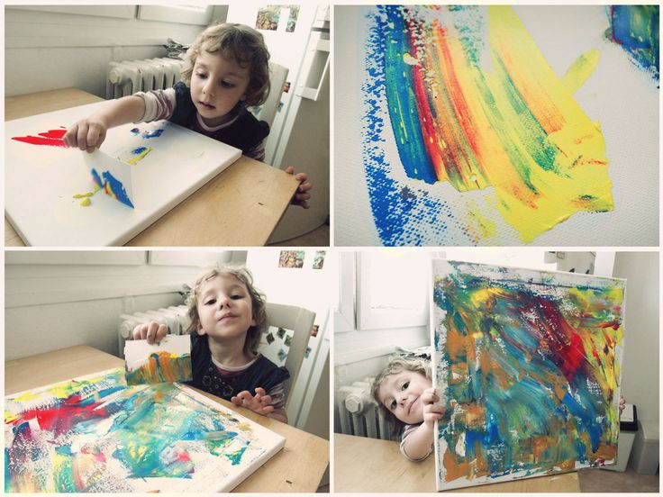 kids painting acryl inspiration diy 2-3 years, children activities