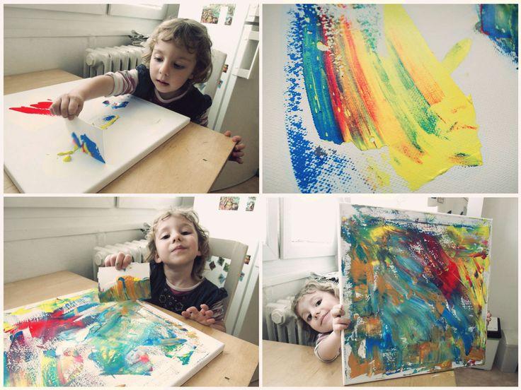 kids painting acryl inspiration diy 2-3 years, children activities
