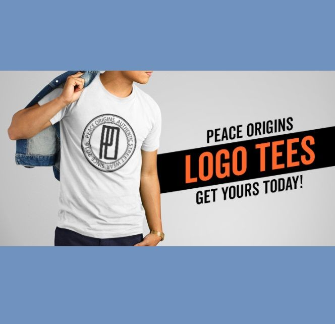 This is a t-shirt release by a clothing brand named 'Peace Origins' originally from Durban. You can rock your unisex LOGO tees all seasons. Visit our facebook page to order https://www.facebook.com/PeaceOrigins2016/