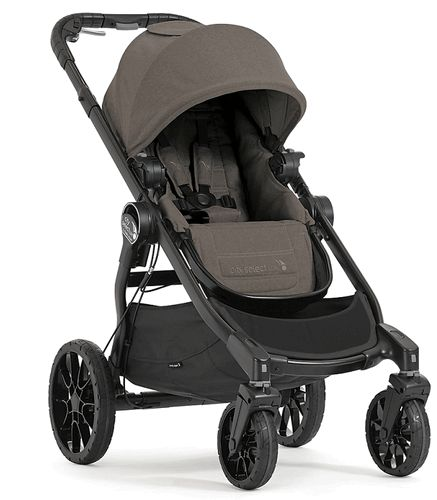 New for 2017! | Baby Jogger City Select LUX Stroller - Taupe | Free shipping and no sales tax from Strolleria.com