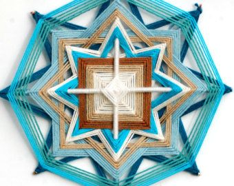 Alba sirena 12 pollici filato mandala ojo de dios occhio di