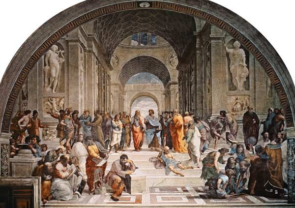 (Raphael) Raffaello Santi - The School of AthensRaffaello Sanzio, Raffaello Santi, Classic Art, Art Inspiration, Artisti Pittori, Dit Raphaël, Greatest Painters, Awesome Art, 1483