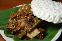 Rujak Cingur (traditional food from Surabaya, Indonesia)