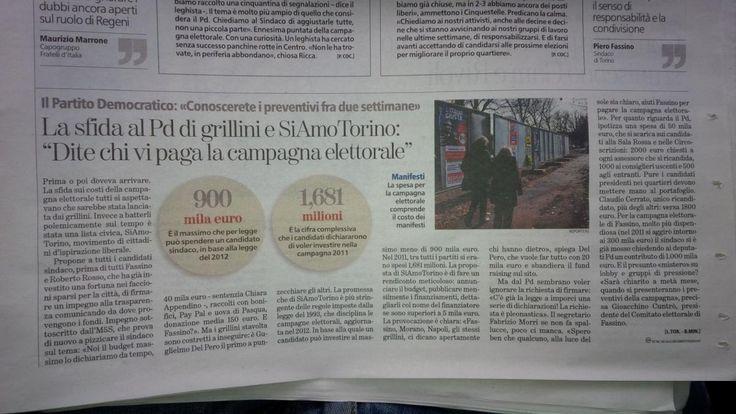 Impegno pubblico per la #trasparenza ... via #SiAmoTorino #Torino #Torino2016 #amministrative2016 #torinesi