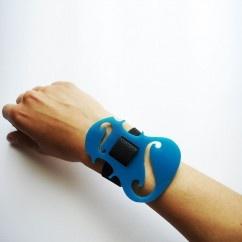 Turkuaz Keman Bileklik - #tasarim #tarz #mavi #rengi #moda #hediye #ozel #nishmoda #blue #colored #design #designer #fashion #trend #gift