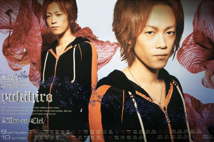 2006 yukihiro Source: L'Arc~en~Ciel official calendar 2006