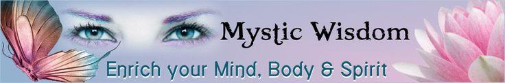 Mystical  website header design.