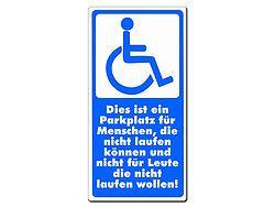 Behindertenparkplatz Schild aus Aluminium