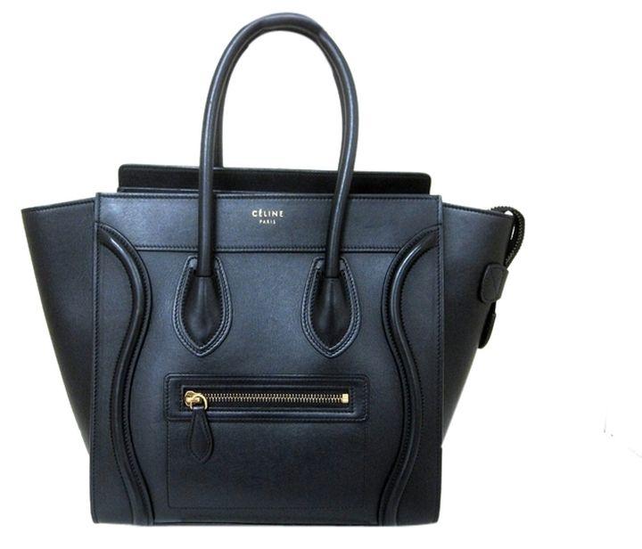 celine handbag outlet - Smooth Calfskin Micro Luggage In Black Satchel | Celine, Smooth ...