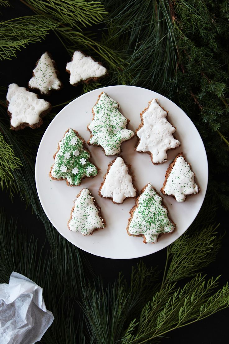Holiday tree cookies.