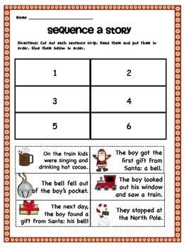 ... for kindergarten, Polar express tickets and The polar express