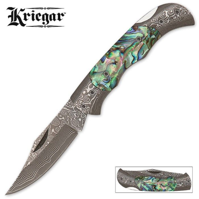 BudK And Kriegar Damascus Pocket Knife information?