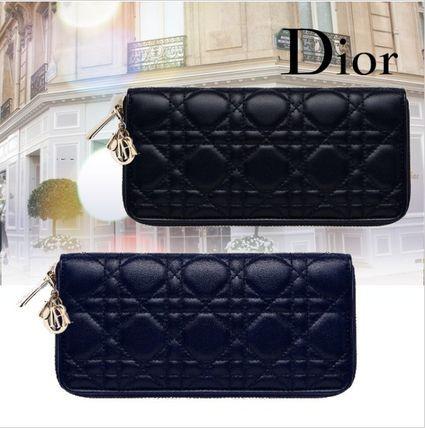 ★Christian Dior★LADY カナージュ ジップアラウンド長財布