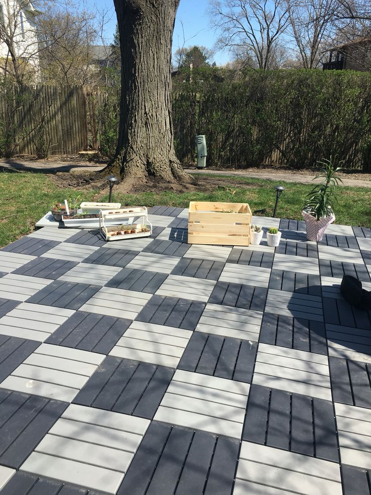 Love Ikea outdoor tiles! Easy to install and totally